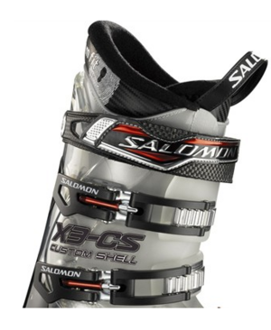 Power strap A strap with velcro, that tightens the upper part of the Ski boot.