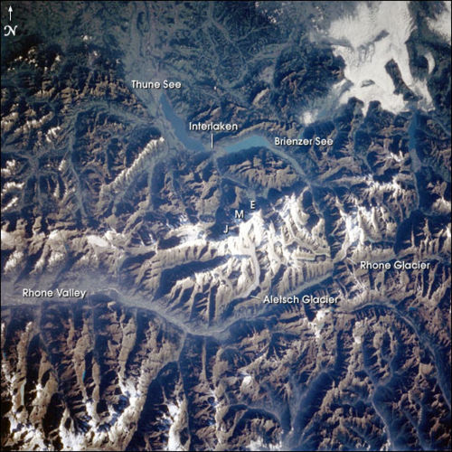 Bernse Oberland Switzerland photo from NASA