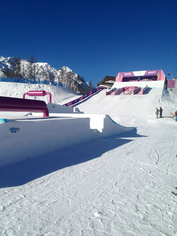 Sochi Slopestyle Course, Start Section